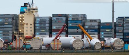 Projektpier Container Terminal Wilhelmshaven (CTW): Windpark-Segmente für den Forschungswindpark Anzetel