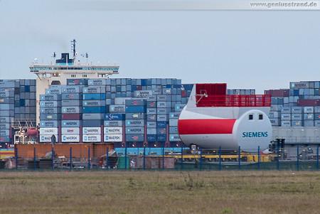 Projektpier Container Terminal Wilhelmshaven: Forschungswindpark Anzetel