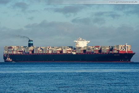 Container Terminal Wilhelmshaven (CTW): Erstanlauf MAERSK ENFIELD