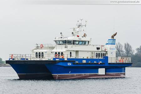 Swath-Offshore-Tender GESA der Firma WindMW aus Bremerhaven