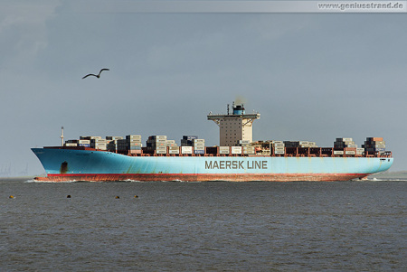 Container Terminal Wilhelmshaven: ESTELLE MAERSK (Emma-Maersk-Klasse)