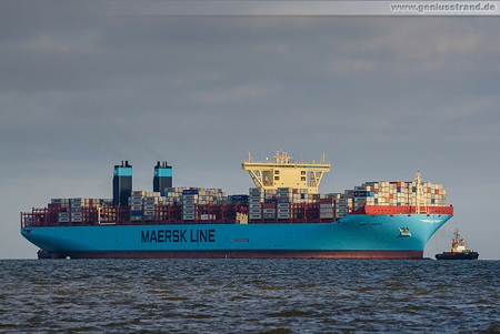 Triple-E-Klasse am Container-Terminal Wilhelmshaven/JadeWeserPort