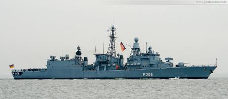 Wilhelmshaven: Fregatte NIEDERSACHSEN (F 208) ist letztmalig von einem großen Einsatz in den Heimathafen eingelaufen