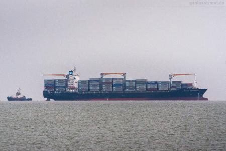 Container Terminal Wilhelmshaven: Containerschiff MAERSK NOTTINGHAM