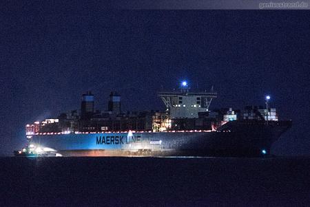JadeWeserPort: Containerschiff MORTEN MAERSK (Triple-E-Klasse)