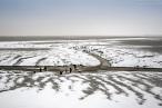 Wilhelmshaven: Schneebilder aus dem Banter Watt