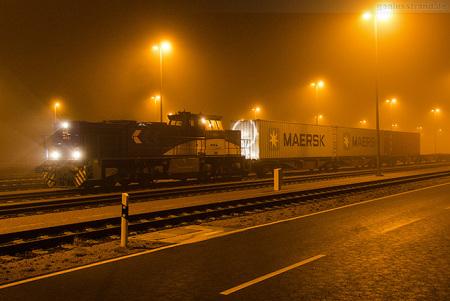 Wilhelmshaven: BASF Containerzug am JadeWeserPort (JWP) Bahnhof