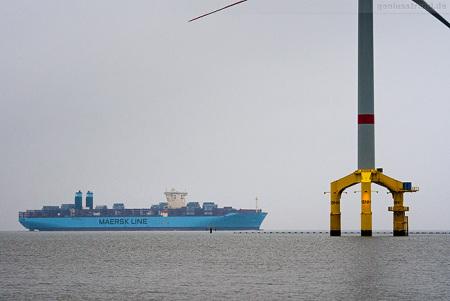 Wilhelmshaven 2M-Allianz: Containerschiff MUNKEBO MAERSK (Triple-E-Klasse)