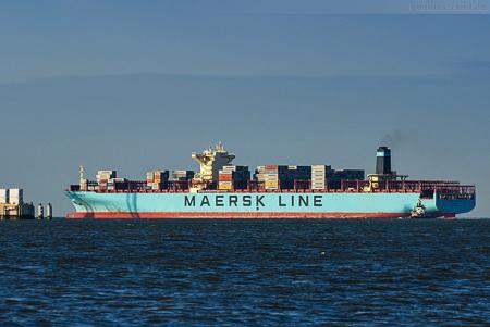 JADEWESERPORT Maersk Edmonton: Liniendienst AE1/Shogun gestartet