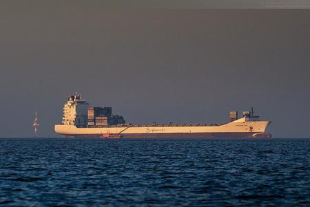 Schiffsankünfte JadeWeserPort: Containerschiff SAFMARINE NUBA