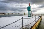 Aktuelle Winterbilder aus Wilhelmshaven (Mole Helgolandkai)