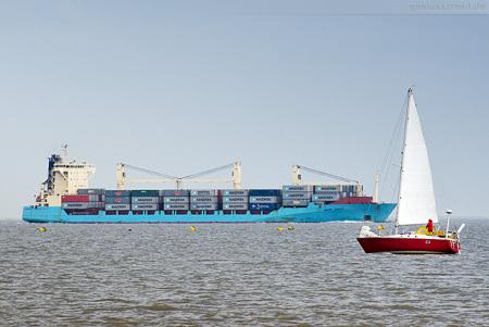 JadeWeserPort Ankünfte: Feederschiff BOMAR VANQUISH der Seago Line