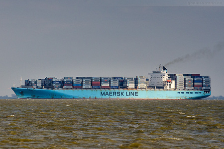 JadeWeserPort Abfahrten: Containerschiff MAERSK KIEL (Maersk-Kiel-Klasse)