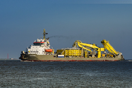Wilhelmshaven Schiffe: Kabelleger NDURANCE, Boskalis (Cable Laying Vessel)