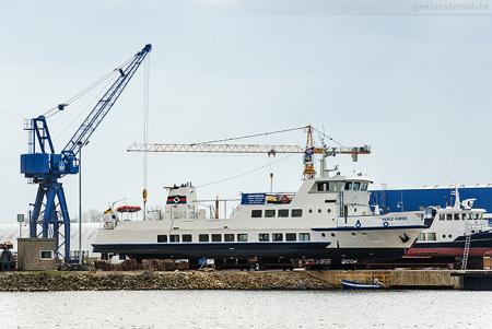 Wilhelmshaven: Die HARLE KURIER bei der Neuen Jadewerft