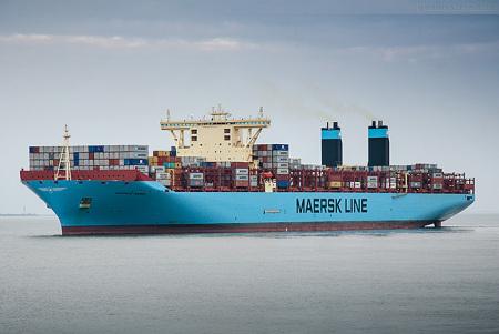 Abfahrten JadeWeserPort Containerterminal Wilhelmshaven Triple-E-Klasse