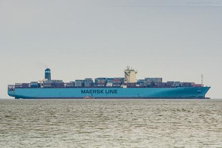 Ankünfte JadeWeserPort: MAERSK EINDHOVEN (Maersk-Edinburgh-Klasse)