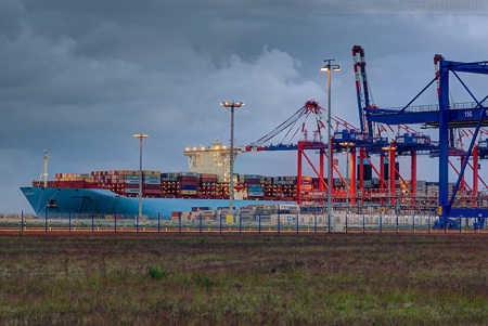 Container Terminal Wilhelmshaven (CTW): Triple-E-Klasse MARY MAERSK
