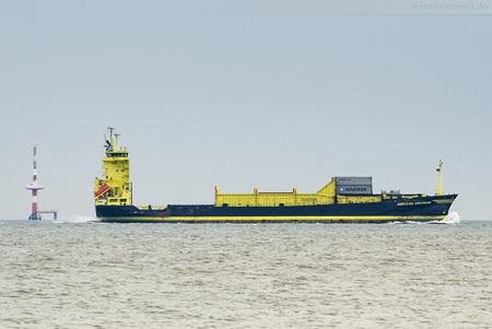 Containerschiff BORUSSIA DORTMUND fährt zum JadeWeserPort