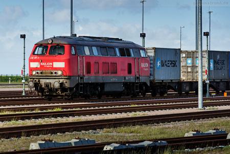 Wilhelmshaven: Containerzug kommend vom JadeWeserPort