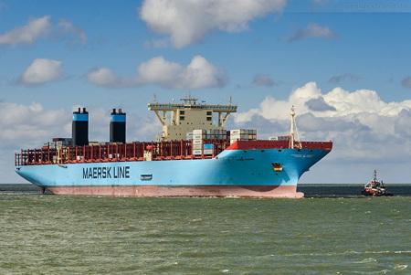 Ankünfte Jade-Weser-Port: Triple-E-Klasse MARIE MAERSK (inbound)