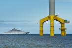 Wilhelmshaven: Luxusyacht TATIANA auf der Jade unterwegs
