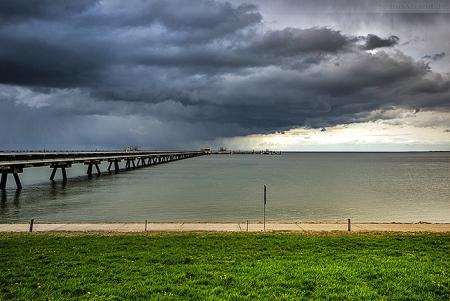 Wilhelmshaven Impressionen: Wetterumschwung an der WRG-Löschbrücke