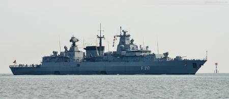 Wilhelmshaven: Fregatte BAYERN (F 217) vom Atalanta-Einsatz in Wilhelmshaven zurück