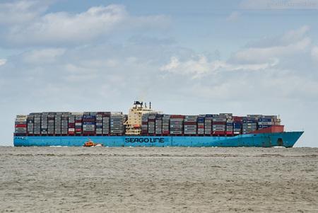 Schiffsankunft JadeWeserPort: Containerschiff SEAGO FELIXSTOWE (inbound)