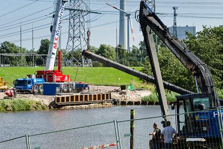 Wilhelmshaven Maade: Ein 100 m langes Rohrstück (Düker) wird erneuert