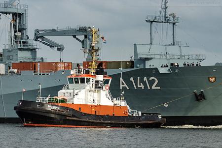 Wilhelmshaven Nordhafen: Schlepper BUGSIER 21