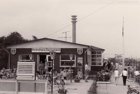 Bilder Voslapp Geniusstrand Wilhelmshaven früher: Strandhaus Geniusbank