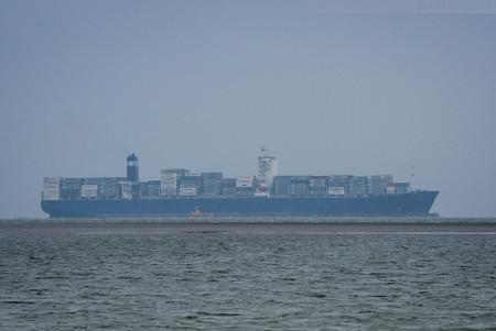 JadeWeserPort Schiffsankünfte: Schiffsneubau MAERSK SALTORO (L 300 m)