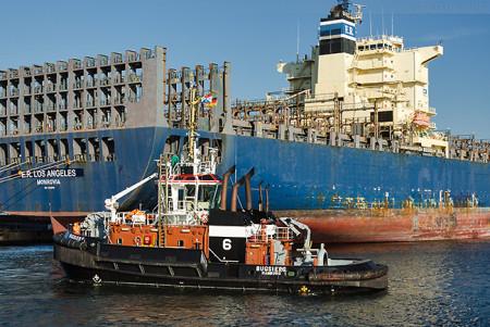 WILHELMSHAVEN: Containerschiff E. R. LOS ANGELES ist ausgelaufen