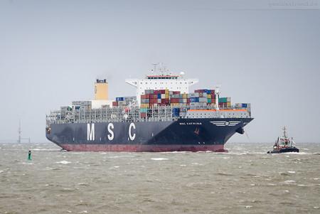 Jade-Weser-Port Ankunft: Containerschiff MSC KATRINA (Erstanlauf)