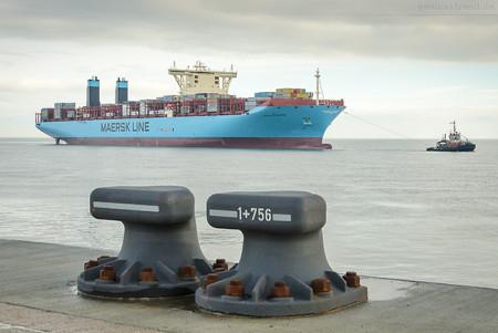 Schiffsankunft Jade Weser Port: Triple-E-Klasse MATHILDE MAERSK