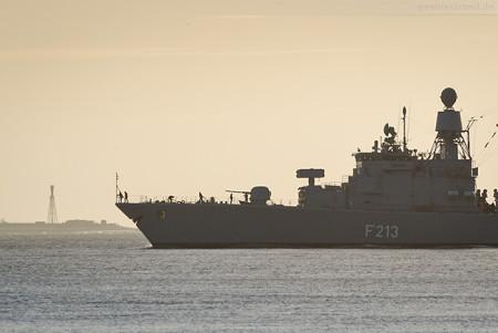 Wilhelmshaven: Fregatte AUGSBURG (F 213) zum EU-Einsatz ausgelaufen