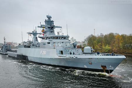 Wilhelmshaven: Korvette MAGDEBURG (F 261) im Ausrüstungshafen