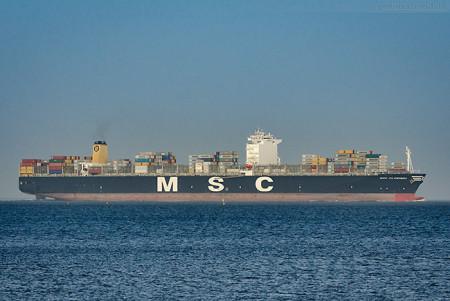 Schiffsankünfte JadeWeserPort: MSC CLORINDA (L 399 m) MSC-Danit-Typ