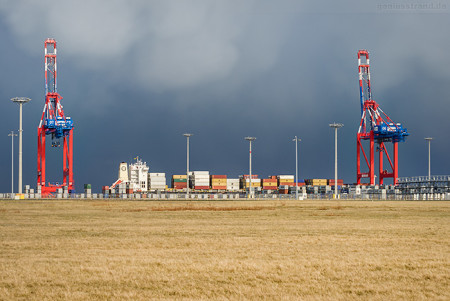 Containerschiff MSC RAFAELA (L 244 m) am JadeWeserPort