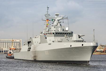 WILHELMSHAVEN: Schiffneubau ERRADII (910) der algerischen Marine
