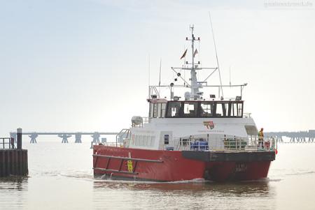 Hooksiel Außenhafen: Mehrzweck-Arbeitsboot MO2 (Mainprize Offshore Ltd.)