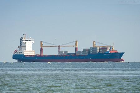 JadeWeserPort Schiffsankünfte: Containerschiff HELLE RITSCHER (L 177 m)