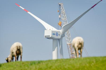 Windkraftanlage (Bard VM) vor Hooksiel wird abgebaut
