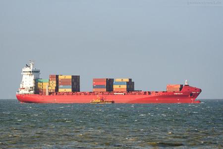 Schiffsankünfte JadeWeserPort: Feederschiff AMERDIJK (L 168 m)
