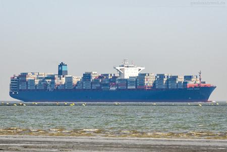 Schiffsanläufe JadeWeserPort: Containerschiff MAERSK SARAT (L 300 m)