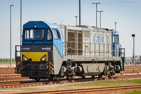Vorstellgruppe JadeWeserPort: Vossloh Diesellok G 2000 BB (273 014-1)