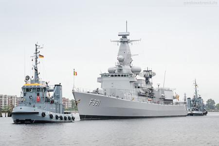 WILHELMSHAVEN: Belgische Fregatte LOUISE-MARIE (F 931)
