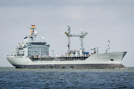 WILHELMSHAVEN: Tanker RHÖN (A 1443) kommt aus der Norderwerft