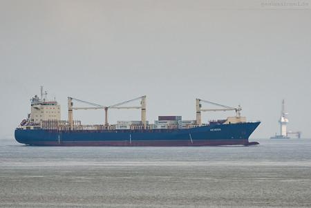 JadeWeserPort Schiffsankünfte: Containerschiff AS VEGA (L 178 m)